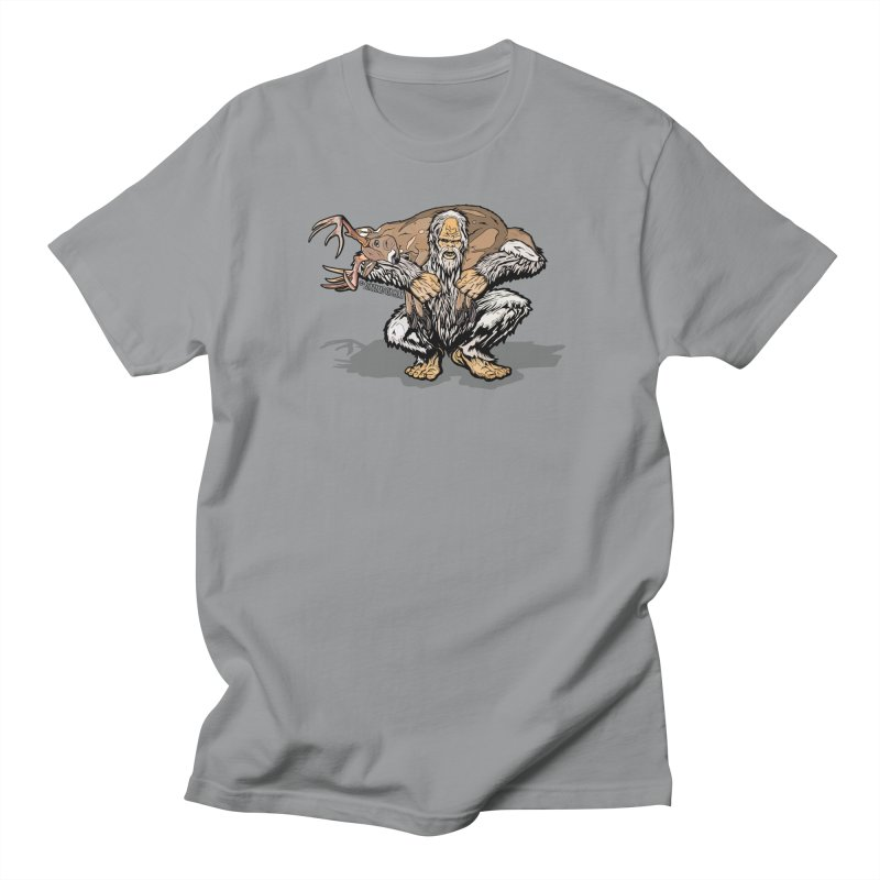 Yeti with Big Buck Men's Regular T-Shirt by Boneyard Studio - Boneyard Fly Gear