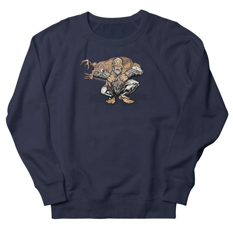 Yeti with Big Buck Men's French Terry Sweatshirt by Boneyard Studio - Boneyard Fly Gear