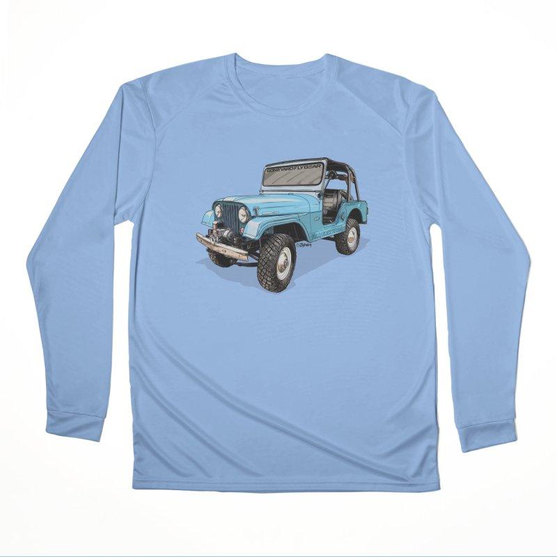 Jeep CJ5 Adventure Rig Men's Performance Longsleeve T-Shirt by Boneyard Studio - Boneyard Fly Gear