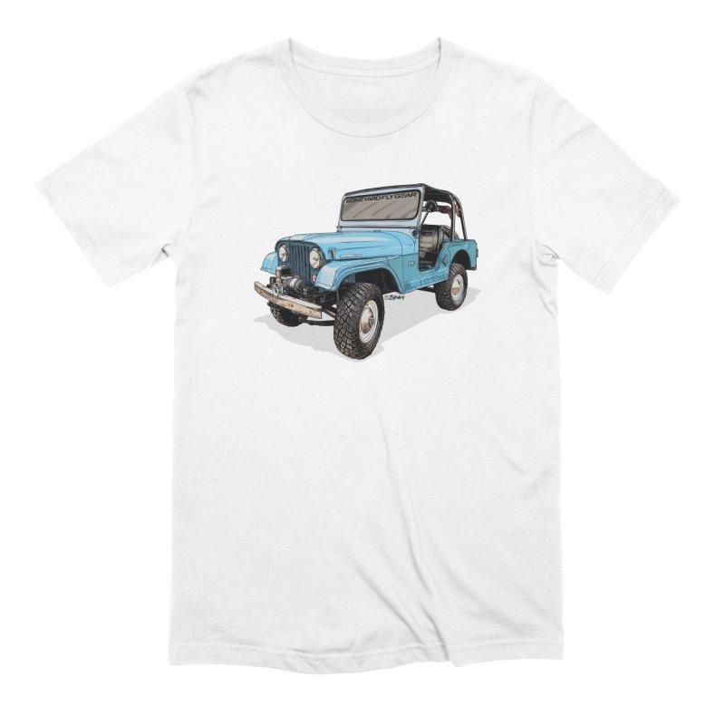 Jeep CJ5 Adventure Rig Men's Extra Soft T-Shirt by Boneyard Studio - Boneyard Fly Gear