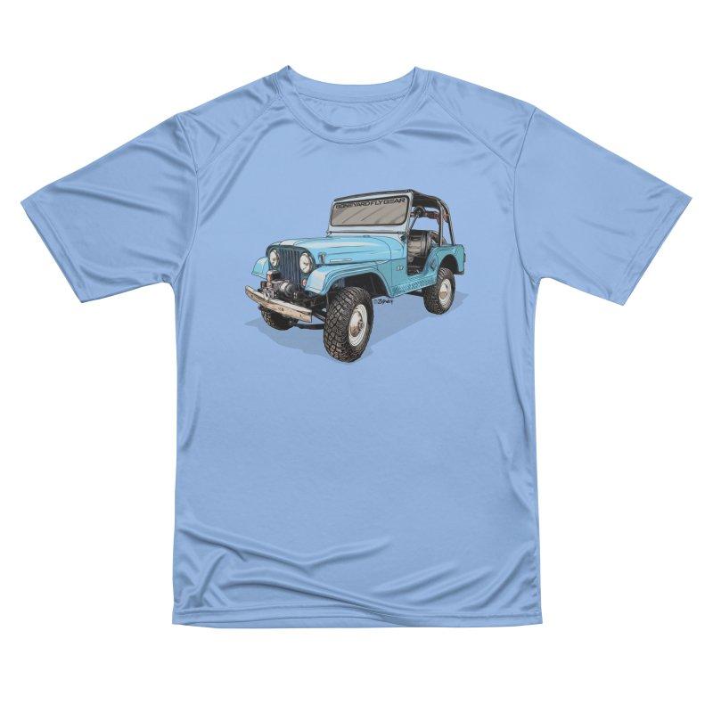 Jeep CJ5 Adventure Rig Men's T-Shirt by Boneyard Studio - Boneyard Fly Gear