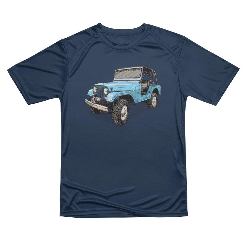 Jeep CJ5 Adventure Rig Men's Performance T-Shirt by Boneyard Studio - Boneyard Fly Gear