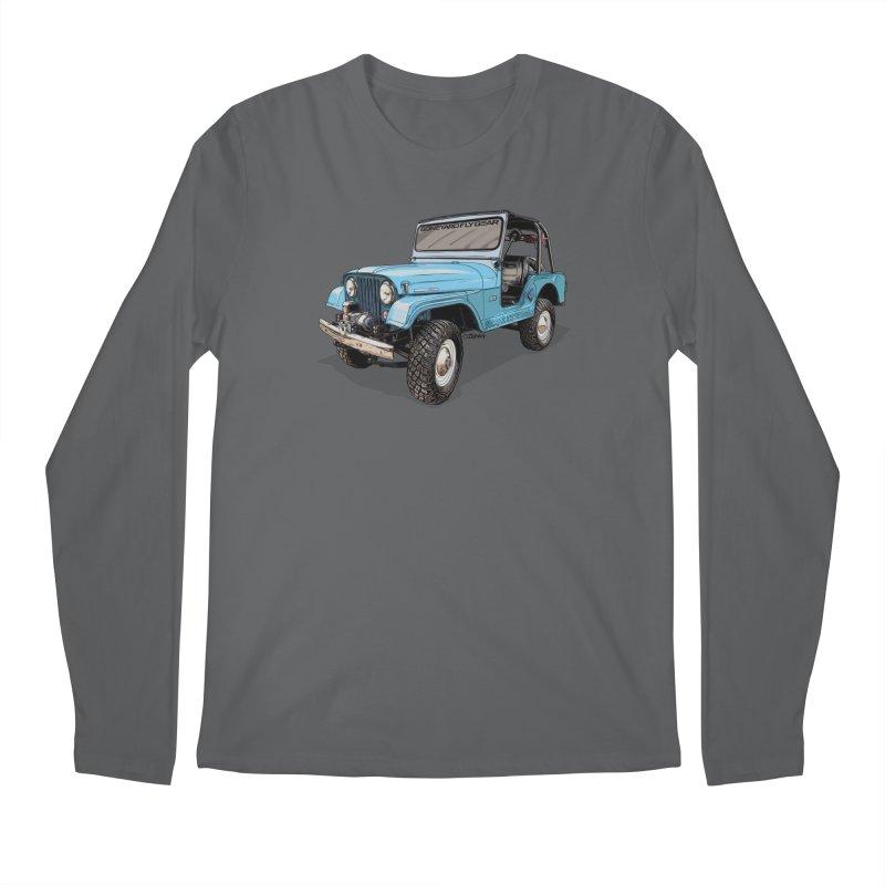 Jeep CJ5 Adventure Rig Men's Regular Longsleeve T-Shirt by Boneyard Studio - Boneyard Fly Gear