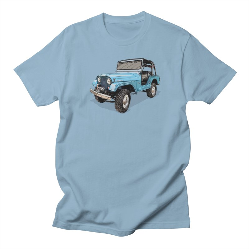 Jeep CJ5 Adventure Rig Men's Regular T-Shirt by Boneyard Studio - Boneyard Fly Gear