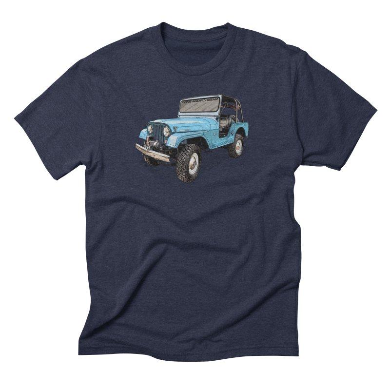 Jeep CJ5 Adventure Rig Men's Triblend T-Shirt by Boneyard Studio - Boneyard Fly Gear