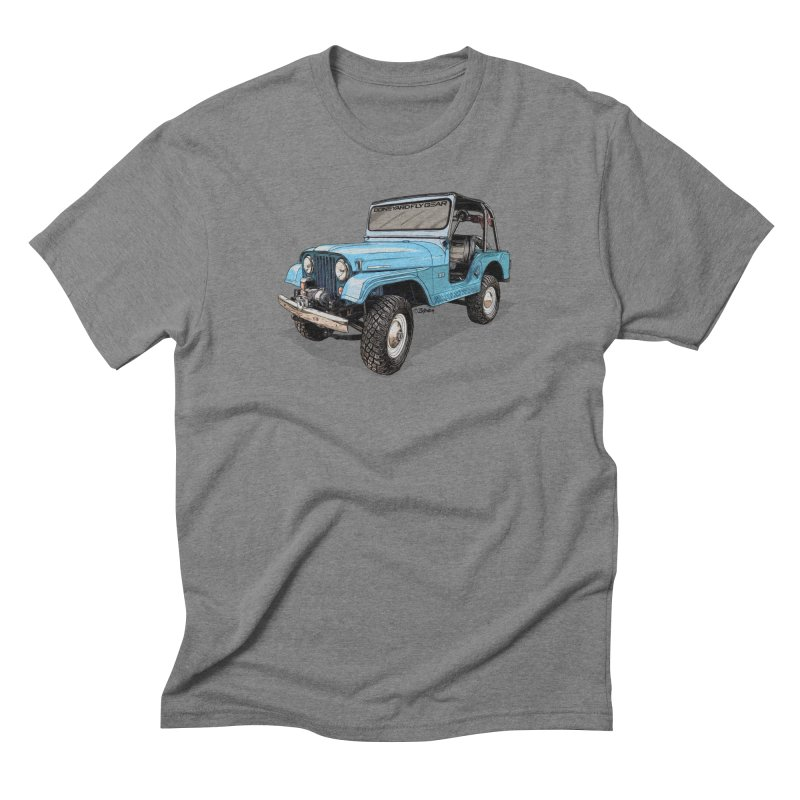 Jeep CJ5 Adventure Rig Men's T-Shirt by Boneyard Studio - Boneyard Fly Gear