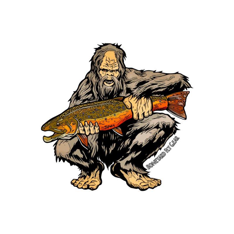 Sasquatch Brook Trout Men's T-Shirt by Boneyard Studio - Boneyard Fly Gear