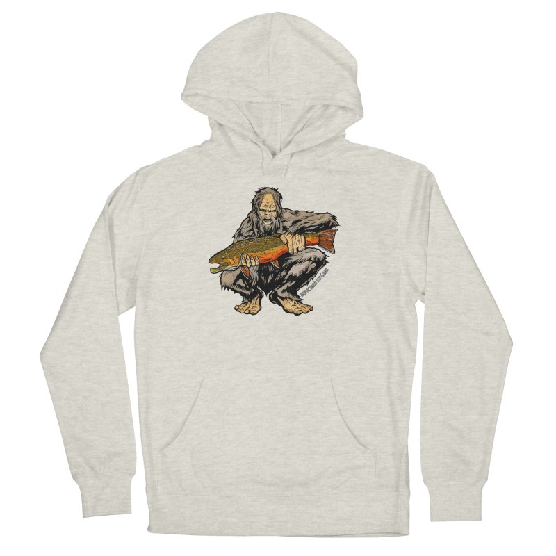Sasquatch Brook Trout Men's French Terry Pullover Hoody by Boneyard Studio - Boneyard Fly Gear