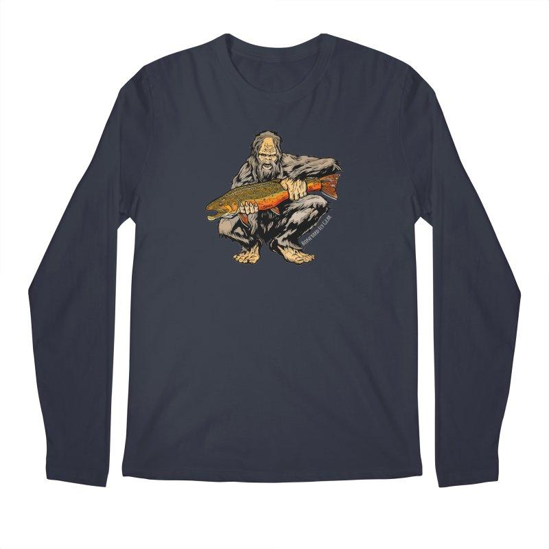 Sasquatch Brook Trout Men's Regular Longsleeve T-Shirt by Boneyard Studio - Boneyard Fly Gear