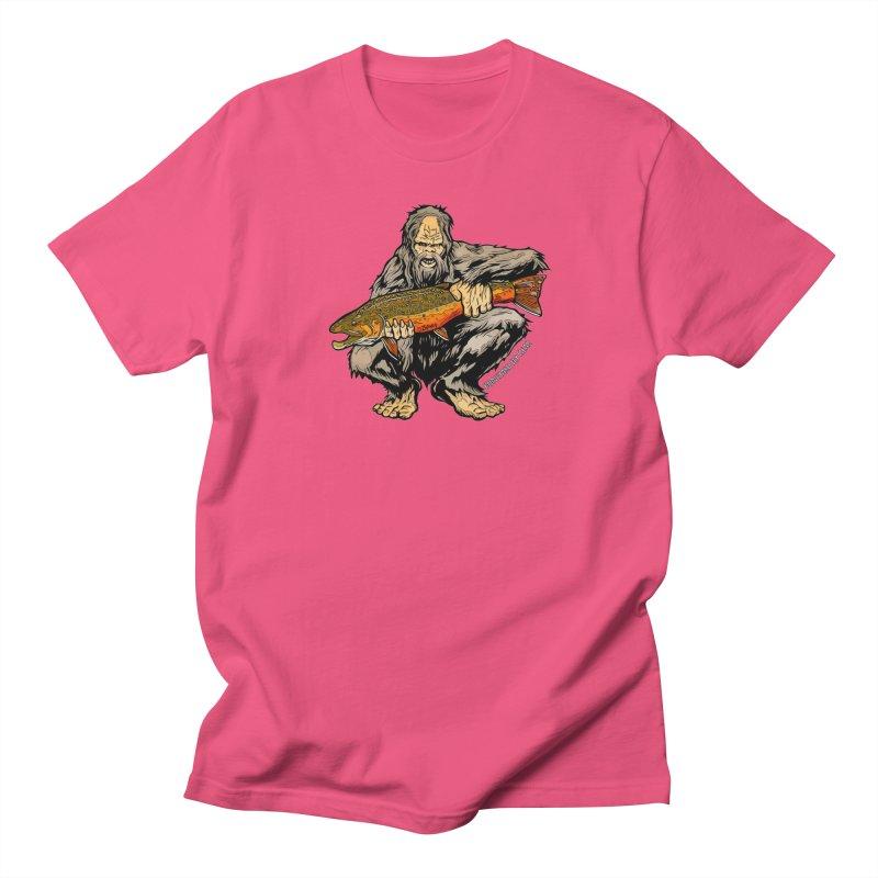 Sasquatch Brook Trout Men's Regular T-Shirt by Boneyard Studio - Boneyard Fly Gear