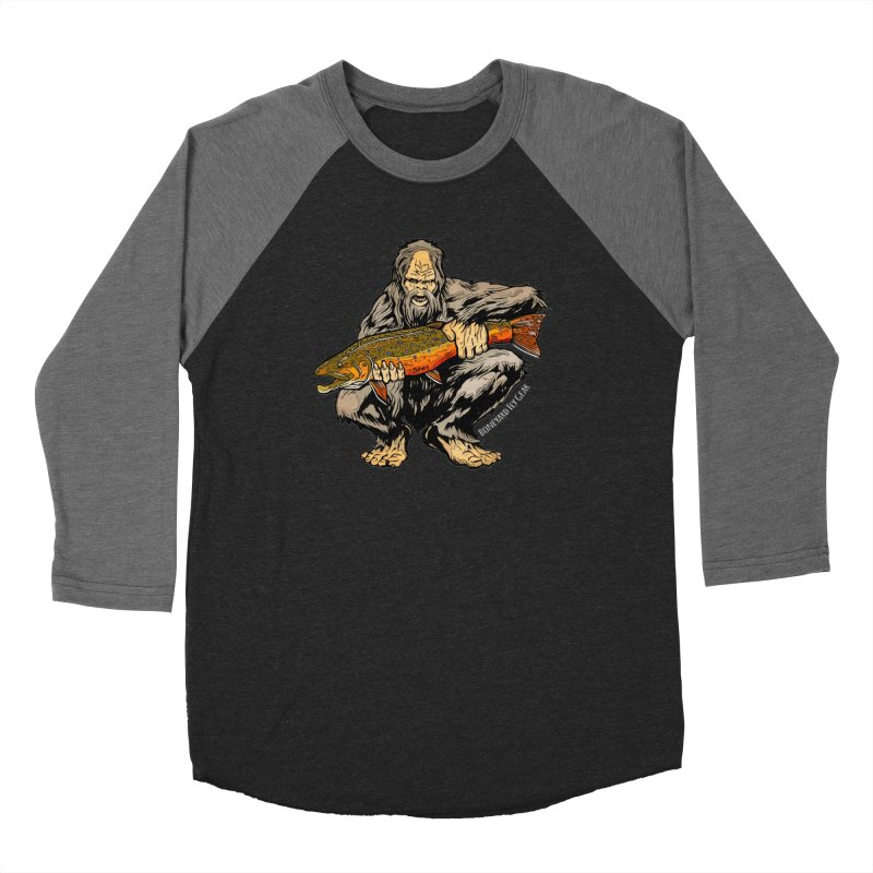 Sasquatch Brook Trout Men's Baseball Triblend Longsleeve T-Shirt by Boneyard Studio - Boneyard Fly Gear