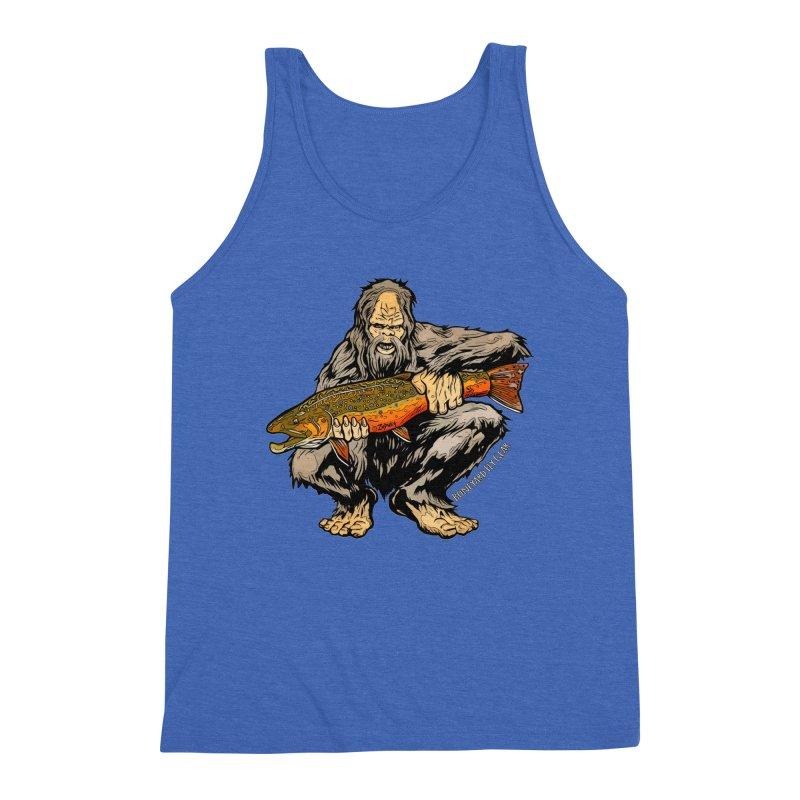 Sasquatch Brook Trout Men's Triblend Tank by Boneyard Studio - Boneyard Fly Gear