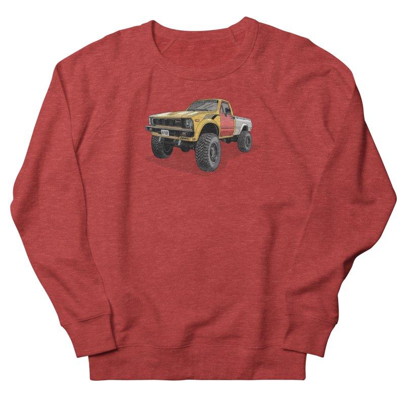 1981 Toyota Hilux Men's French Terry Sweatshirt by Boneyard Studio - Boneyard Fly Gear