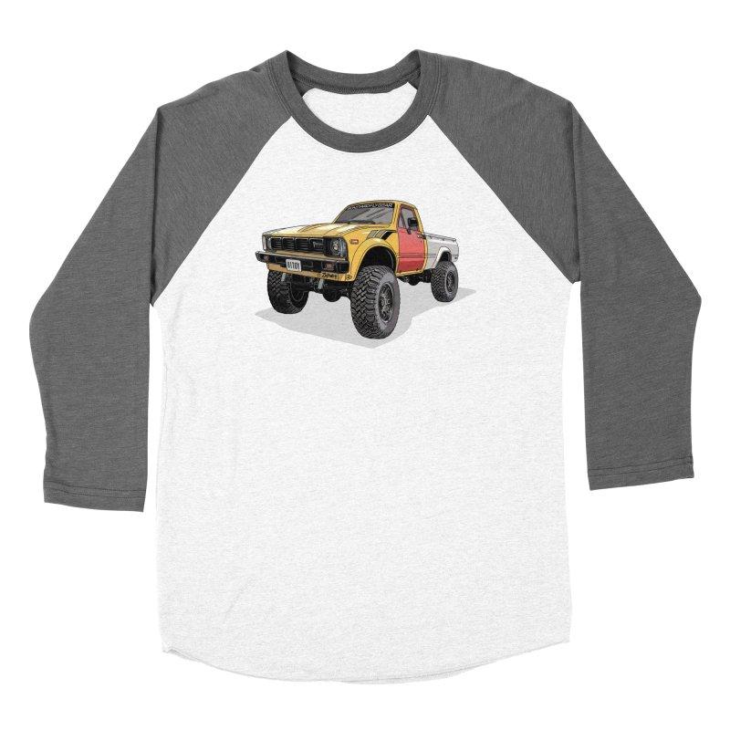 1981 Toyota Hilux Men's Baseball Triblend Longsleeve T-Shirt by Boneyard Studio - Boneyard Fly Gear