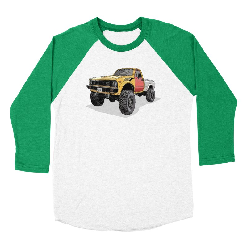 1981 Toyota Hilux Men's Baseball Triblend Longsleeve T-Shirt by Boneyard Studio - Boneyard Fly Gear