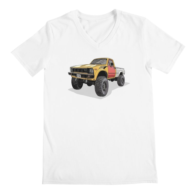 1981 Toyota Hilux Men's V-Neck by Boneyard Studio - Boneyard Fly Gear