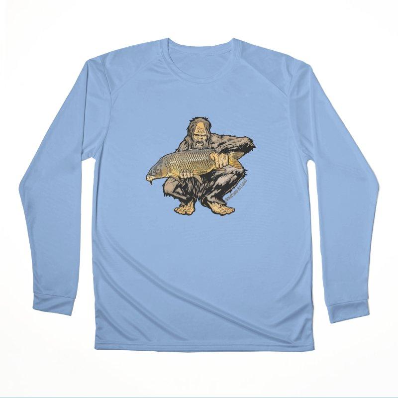 Sasquatch Carp Men's Performance Longsleeve T-Shirt by Boneyard Studio - Boneyard Fly Gear