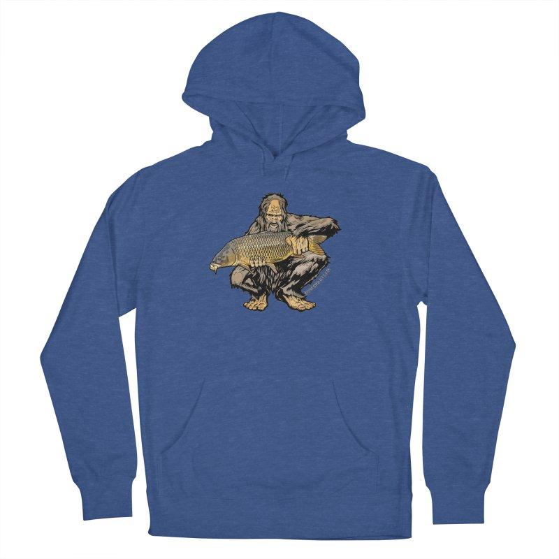 Sasquatch Carp Men's French Terry Pullover Hoody by Boneyard Studio - Boneyard Fly Gear