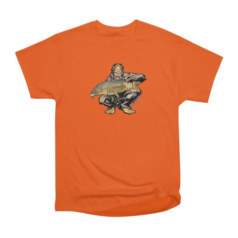 Sasquatch Carp Men's Heavyweight T-Shirt by Boneyard Studio - Boneyard Fly Gear