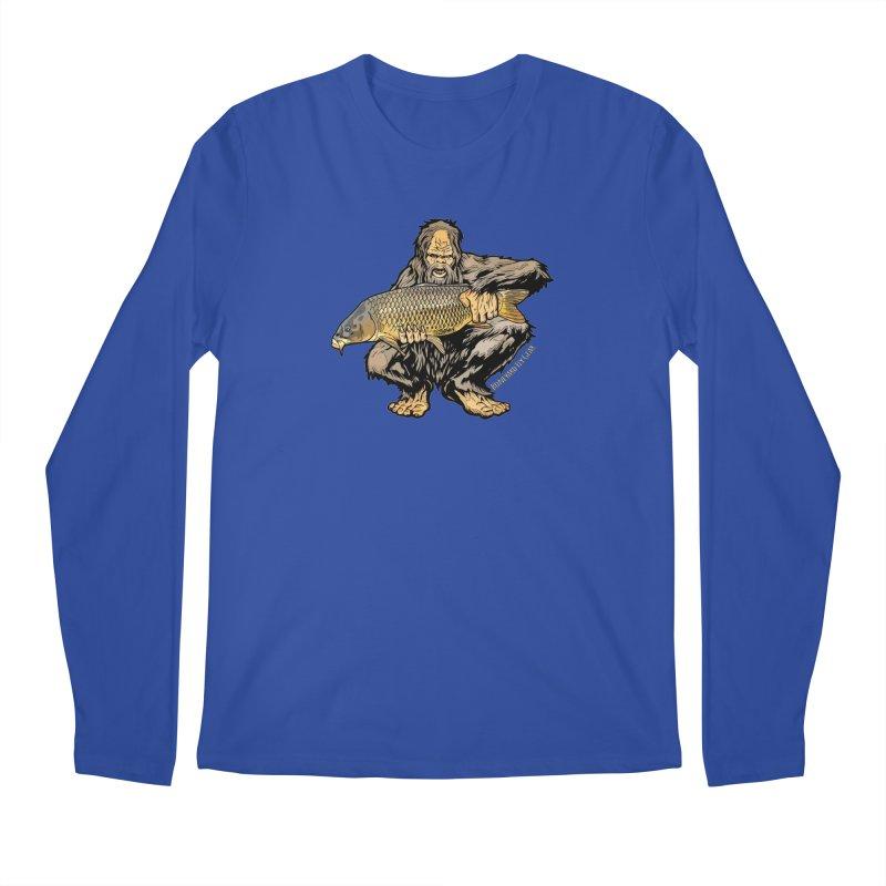 Sasquatch Carp Men's Regular Longsleeve T-Shirt by Boneyard Studio - Boneyard Fly Gear