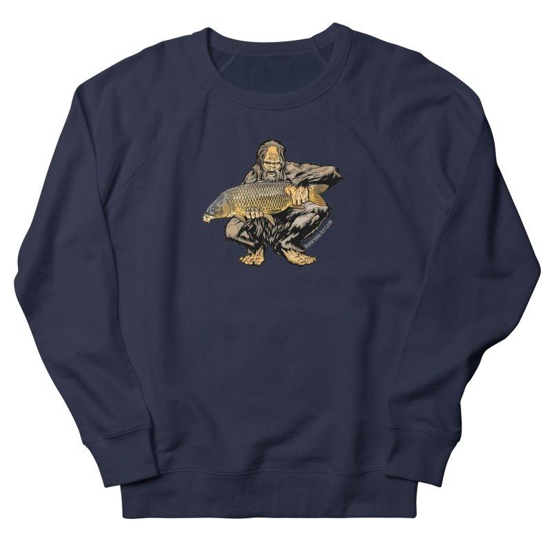 Sasquatch Carp Men's French Terry Sweatshirt by Boneyard Studio - Boneyard Fly Gear
