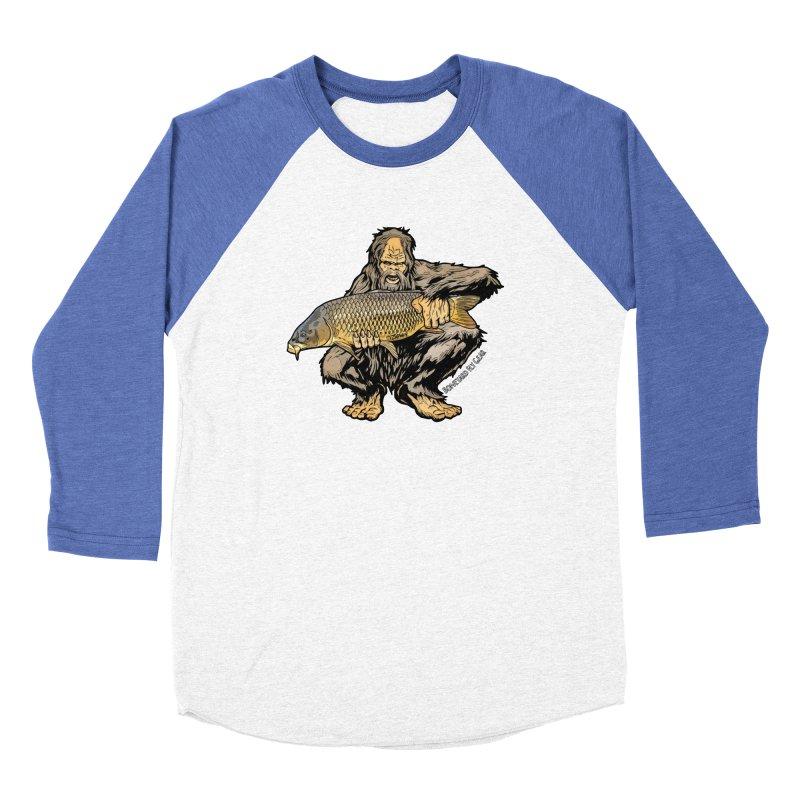 Sasquatch Carp Men's Baseball Triblend Longsleeve T-Shirt by Boneyard Studio - Boneyard Fly Gear
