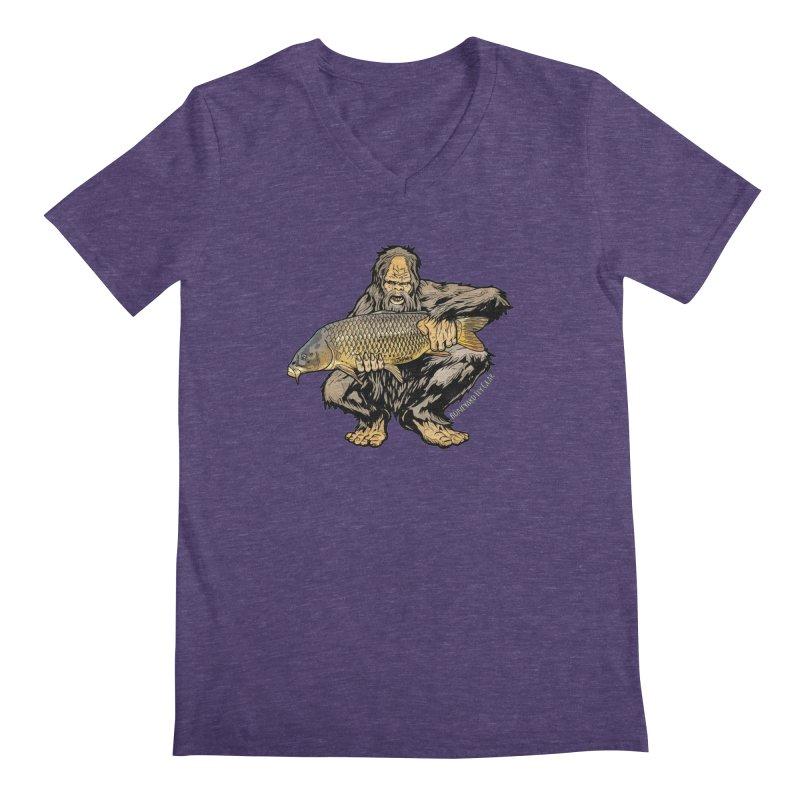Sasquatch Carp Men's Regular V-Neck by Boneyard Studio - Boneyard Fly Gear