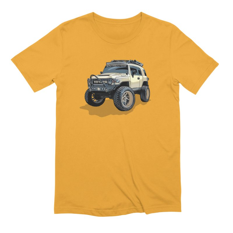 Texas size FJ Cruiser Men's Extra Soft T-Shirt by Boneyard Studio - Boneyard Fly Gear