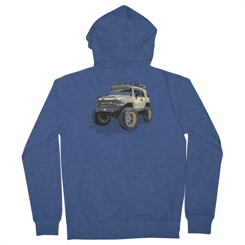 Texas size FJ Cruiser Men's French Terry Zip-Up Hoody by Boneyard Studio - Boneyard Fly Gear