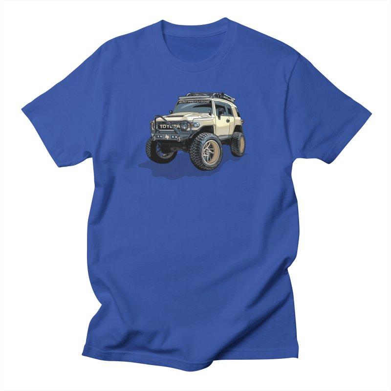 Texas size FJ Cruiser Men's Regular T-Shirt by Boneyard Studio - Boneyard Fly Gear