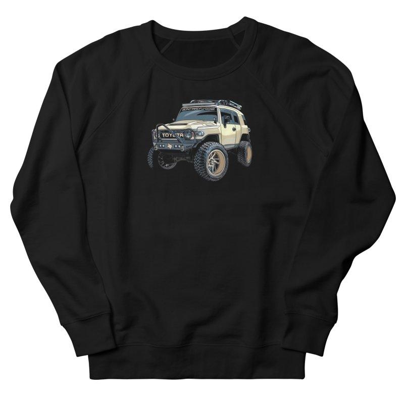 Texas size FJ Cruiser Men's French Terry Sweatshirt by Boneyard Studio - Boneyard Fly Gear