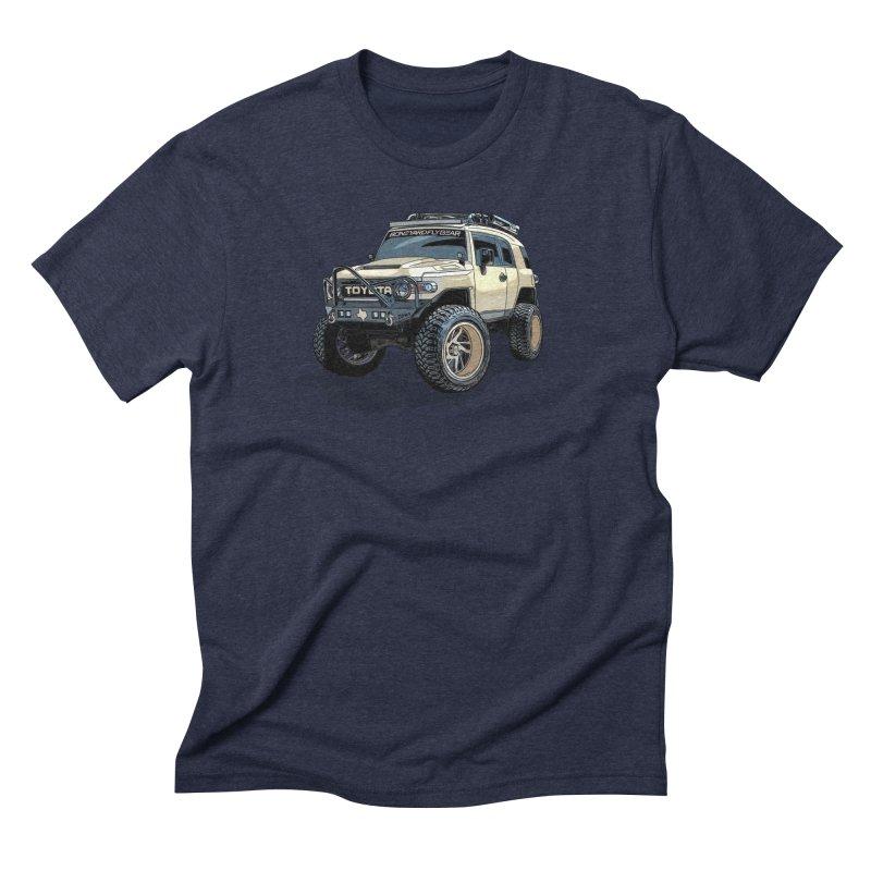 Texas size FJ Cruiser Men's Triblend T-Shirt by Boneyard Studio - Boneyard Fly Gear