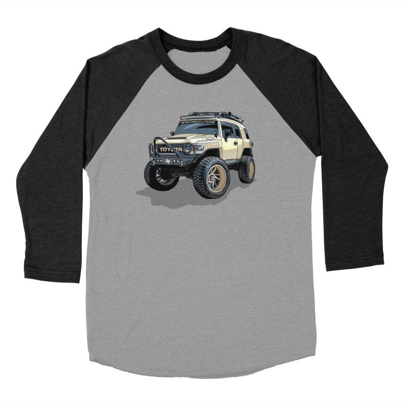 Texas size FJ Cruiser Men's Baseball Triblend Longsleeve T-Shirt by Boneyard Studio - Boneyard Fly Gear