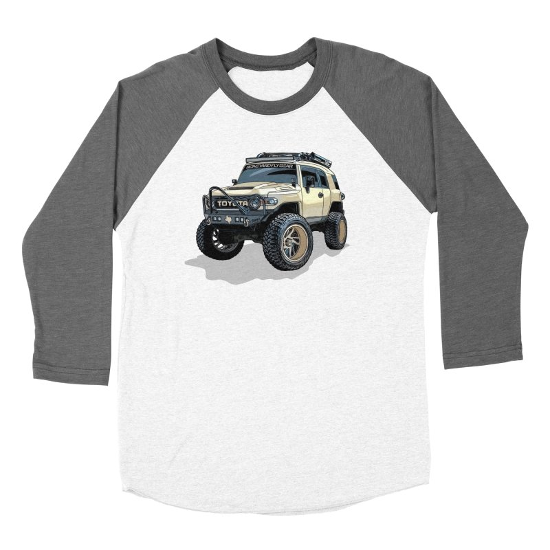 Texas size FJ Cruiser Men's Baseball Triblend Longsleeve T-Shirt by Boneyard Studio - Boneyard Fly Gear