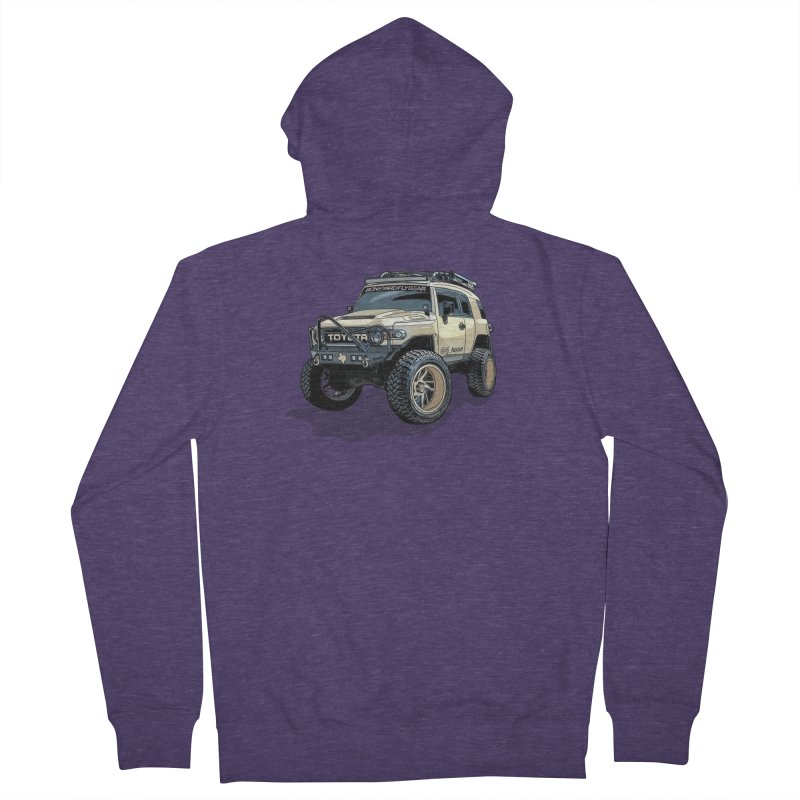 FJ Texas Men's French Terry Zip-Up Hoody by Boneyard Studio - Boneyard Fly Gear