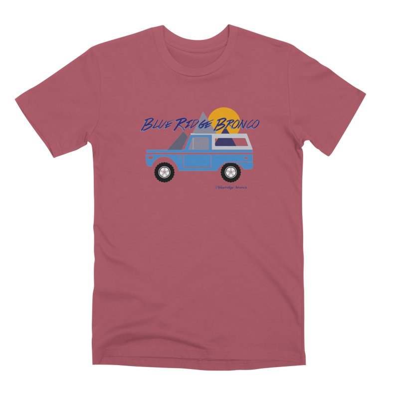 Blue Ridge Bronco Men's Premium T-Shirt by Boneyard Studio - Boneyard Fly Gear