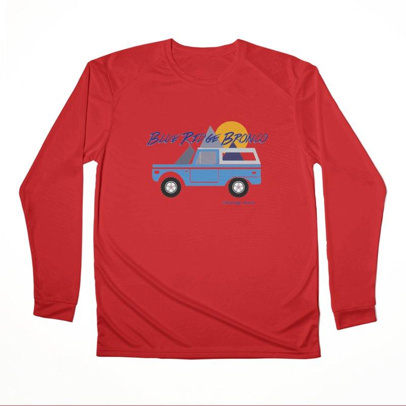 Blue Ridge Bronco Men's Performance Longsleeve T-Shirt by Boneyard Studio - Boneyard Fly Gear