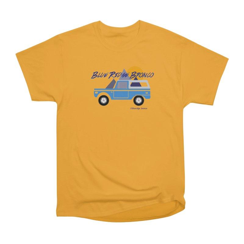 Blue Ridge Bronco Men's Heavyweight T-Shirt by Boneyard Studio - Boneyard Fly Gear