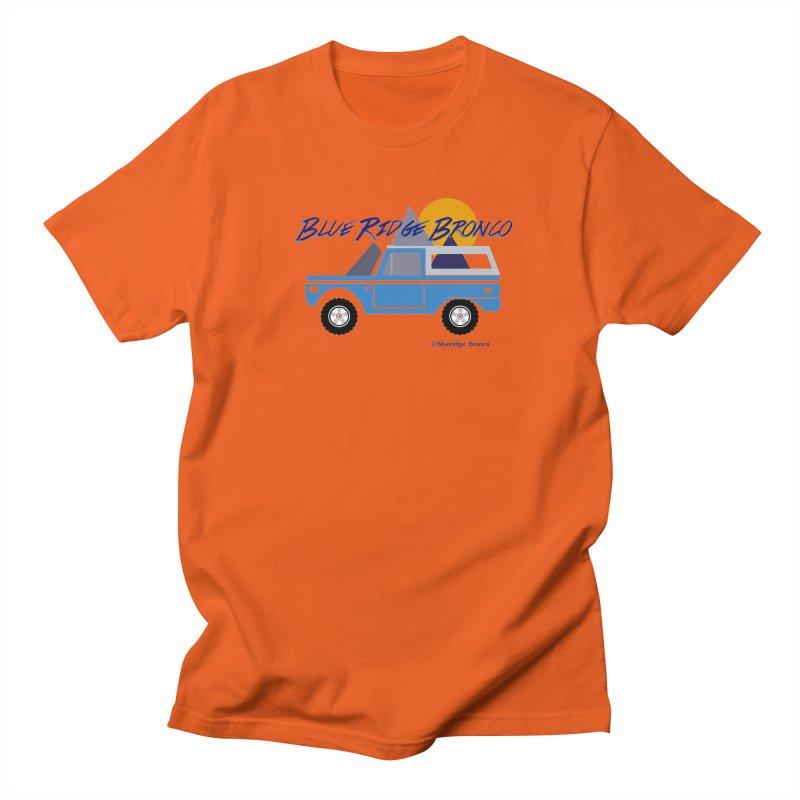Blue Ridge Bronco Men's Regular T-Shirt by Boneyard Studio - Boneyard Fly Gear