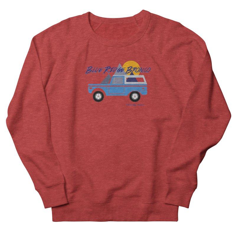 Blue Ridge Bronco Men's French Terry Sweatshirt by Boneyard Studio - Boneyard Fly Gear