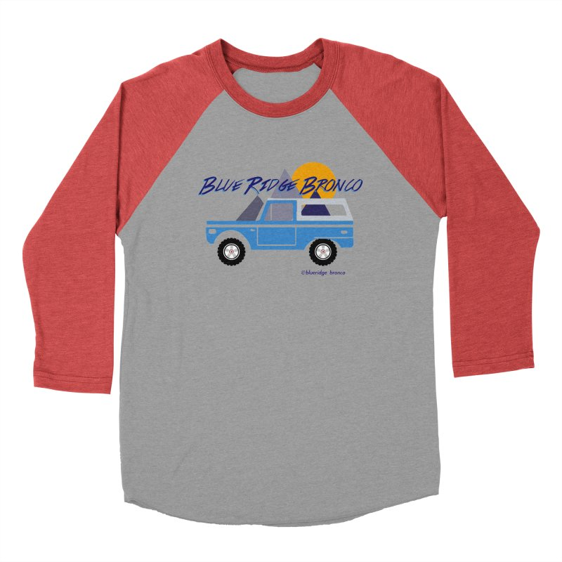 Blue Ridge Bronco Men's Baseball Triblend Longsleeve T-Shirt by Boneyard Studio - Boneyard Fly Gear