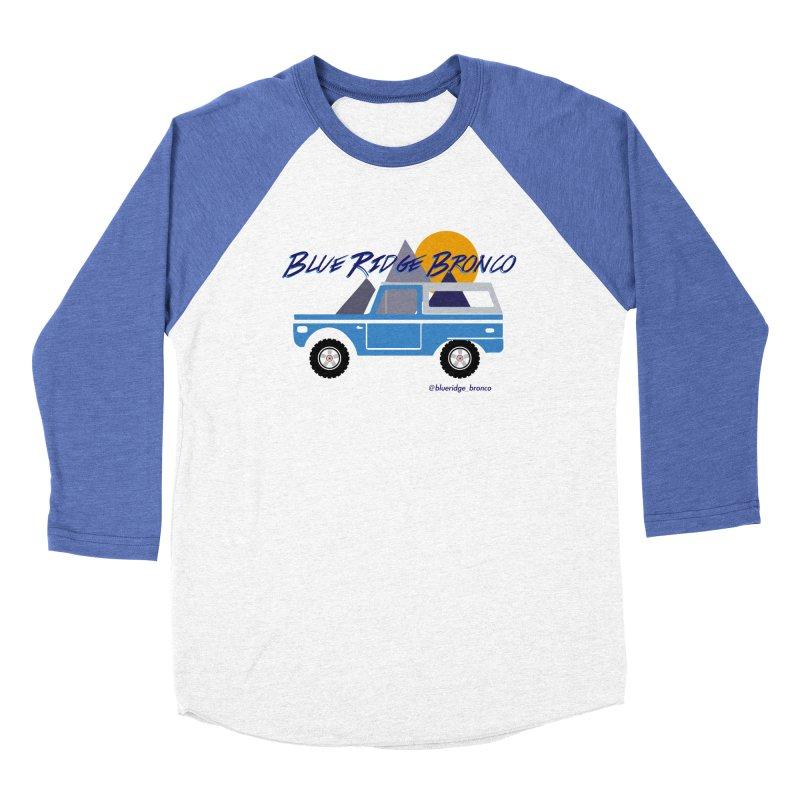 Blue Ridge Bronco Men's Baseball Triblend Longsleeve T-Shirt by Boneyard Studio - Boneyard Fly Gear