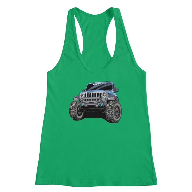 Gladiator Women's Racerback Tank by Boneyard Studio - Boneyard Fly Gear