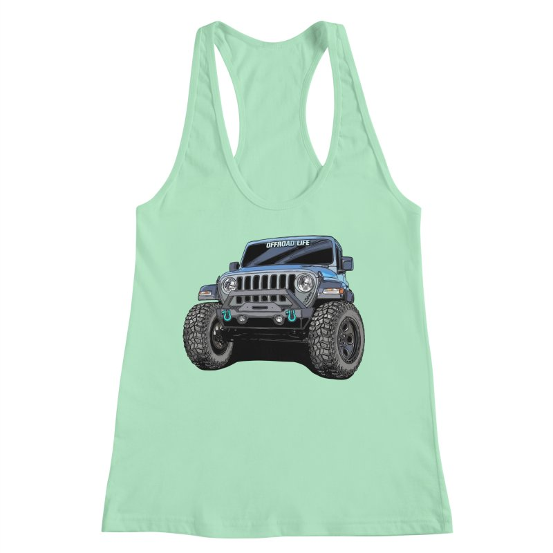 Gladiator Women's Racerback Tank by Boneyard Studio - Boneyard Fly Gear