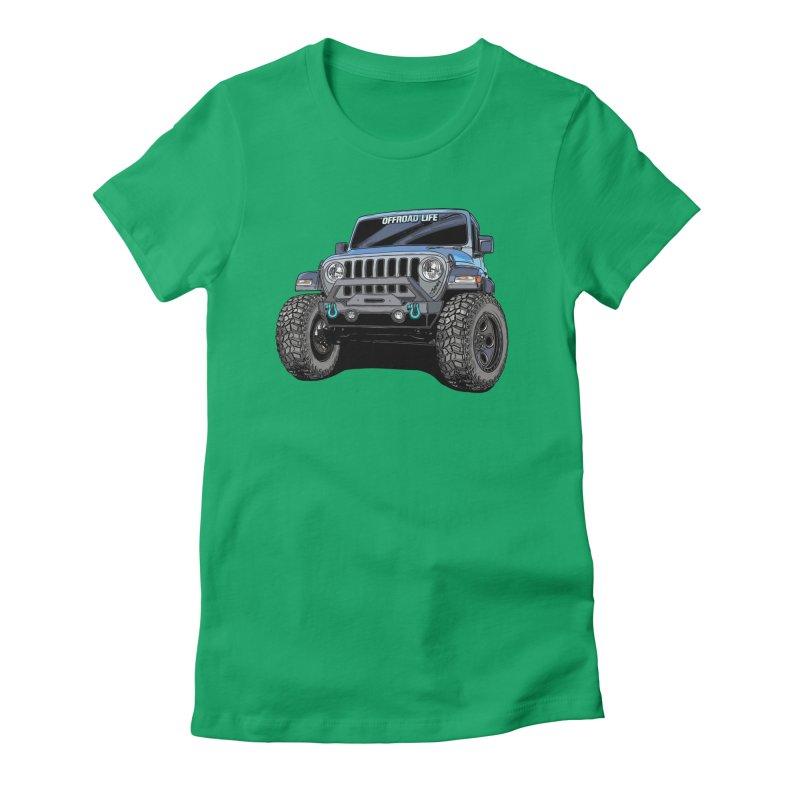 Gladiator Women's Fitted T-Shirt by Boneyard Studio - Boneyard Fly Gear