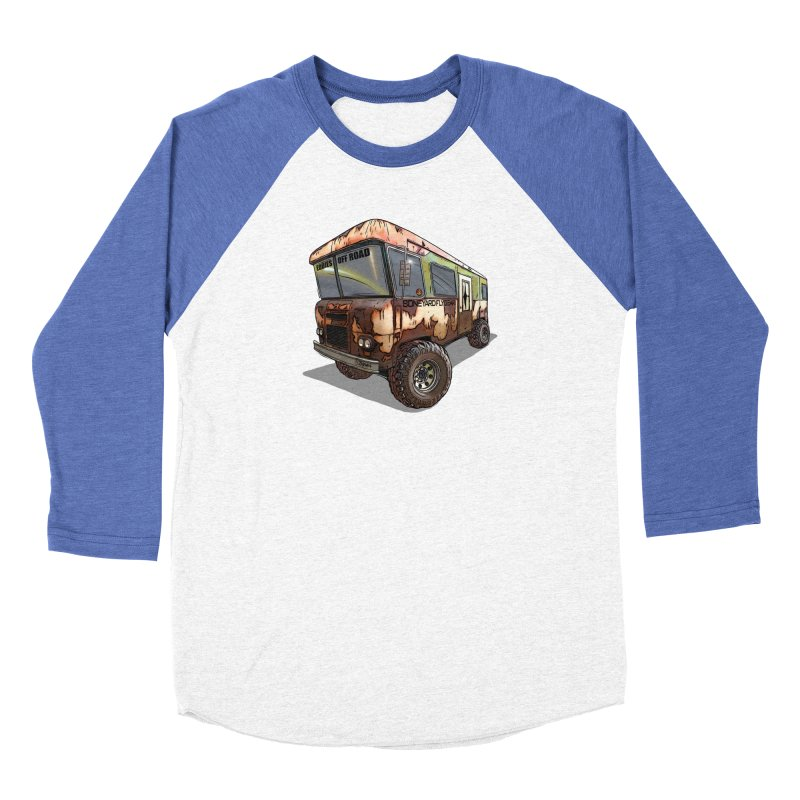Cousin Eddie RV Men's Baseball Triblend Longsleeve T-Shirt by Boneyard Studio - Boneyard Fly Gear