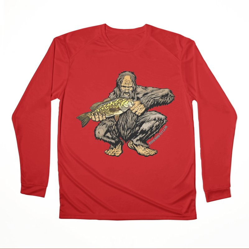 Squatch Smallmouth XL Men's Performance Longsleeve T-Shirt by Boneyard Studio - Boneyard Fly Gear