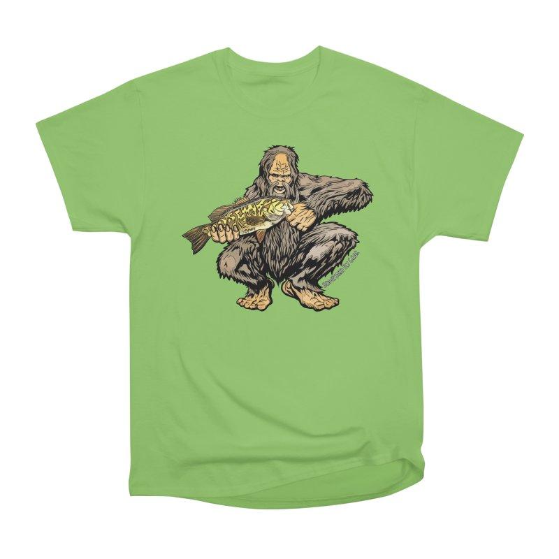 Squatch Smallmouth XL Men's Heavyweight T-Shirt by Boneyard Studio - Boneyard Fly Gear