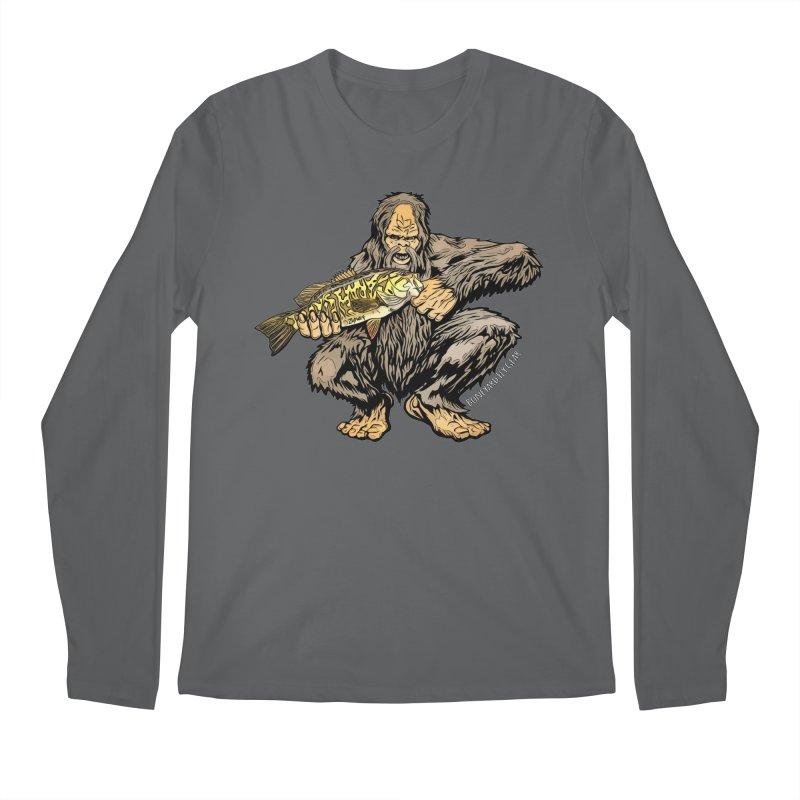 Squatch Smallmouth XL Men's Regular Longsleeve T-Shirt by Boneyard Studio - Boneyard Fly Gear