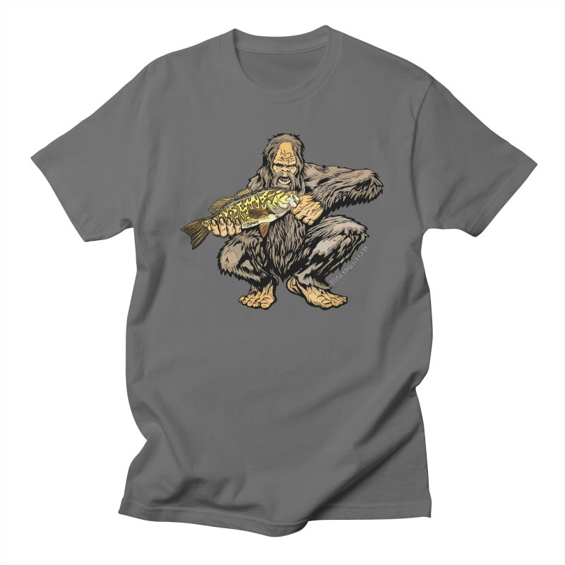 Squatch Smallmouth XL Men's Regular T-Shirt by Boneyard Studio - Boneyard Fly Gear